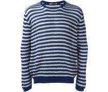 Gestreifter Pullover - men - Baumwolle - 52
