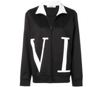 'VLTN' Sweatshirt mit Reißverschluss