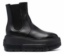 Chelsea-Boots mit Flatform-Sohle