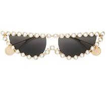 Verzierte Sonnenbrille mit Cat-Eye-Gestell
