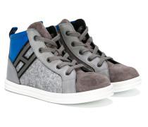 High-Top-Sneakers mit Logostickerei