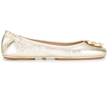 Ballerinas im Metallic-Look
