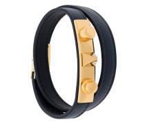 'Le Trois Clous' double wrap bracelet