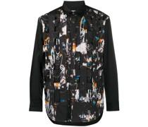 x Futura abstract-print woven panel shirt