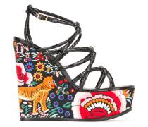 'Enchanted Garden' Sandalen mit Keilabsatz