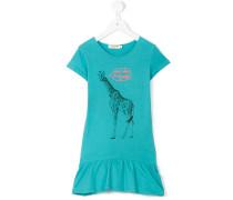 Kleid mit Giraffen-Print - kids - Baumwolle - 6