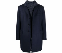 layered single-breasted coat