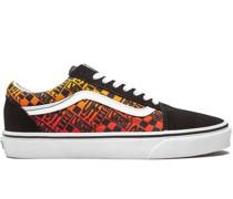 Old Skool Off the Wall Logos - Orange Sneakers