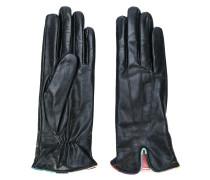 Handschuhe mit kontrastierender Borte