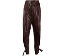 Tapered-Hose aus Leder