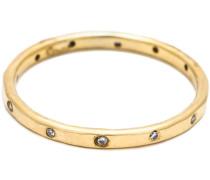 Feiner Ring aus 18kt Gold mit Diamanten