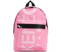 small logo print backpack