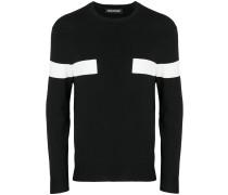 contrast panelled jumper