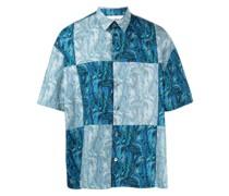 Patchwork-Hemd mit Print