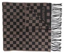 Schal mit Schachbrettmuster