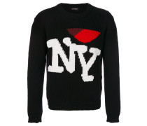 """Pullover mit """"NY""""-Schriftzug"""