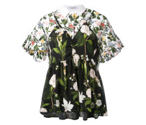 Ausgestelltes Hemd mit floralem Print - women