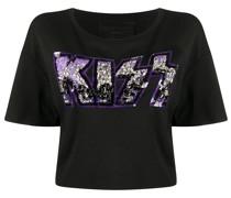 'Kiss' Cropped-T-Shirt