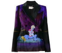 Centaur velvet printed blazer