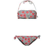 gingham cherry bikini