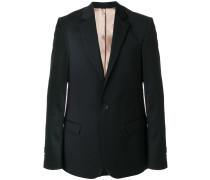 V-neck one button jacket