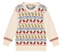 Intarsien-Pullover mit Früchten