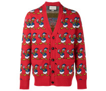 Cardigan mit Donald-Duck-Muster - men - Wolle