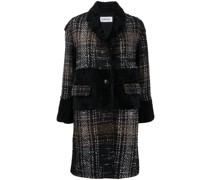 Mantel mit Pelzborten