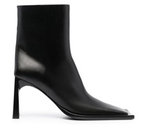 square-toe ankle-length boots
