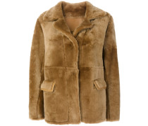 'Teddy' Shearling Mantel