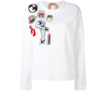 Sweatshirt mit Patches - women