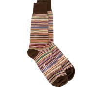 - Gewebte Socken mit Streifenmuster - men