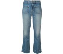 Jeans mit aufgesetzten Taschen