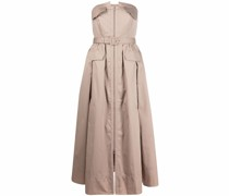 trench-style midi dress