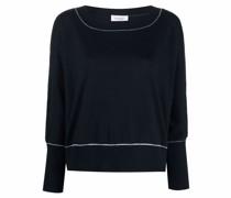 Intarsien-Pullover mit Streifendetails