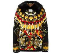 pattern intarsia jacket