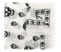 Schal mit Totenkopf-Print
