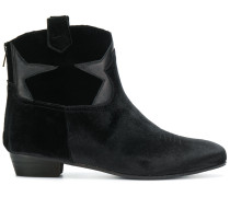 Samt-Stiefel im Western-Look