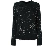 Sweatshirt mit Metallic-Prints