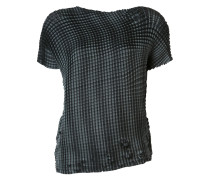 'Grid Pleats' T-Shirt