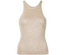 metallic thread knit top