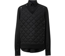 detachable quilted panel shirt