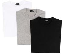 3er-Set T-Shirts mit Rundhalsausschnitt
