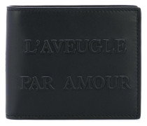 L'Aveugle Par Amour embossed wallet - men
