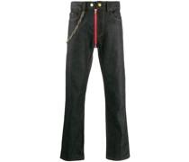 Jeans mit durchgehendem Reißverschluss