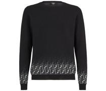 Pullover mit ausgeblichenem FF-Muster