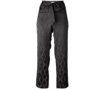 Cropped-Hose mit Schleifenverschluss