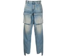 Gerade Jeans mit Taschen