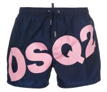 branded swim shorts