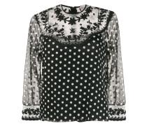 Semi-transparente Bluse mit Blumenmuster